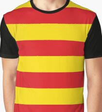 senyera, bandera de catalunya, flag of catalonia Graphic T-Shirt