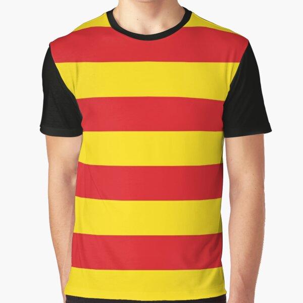 senyera, bandera de catalunya, bandera de cataluña Camiseta gráfica