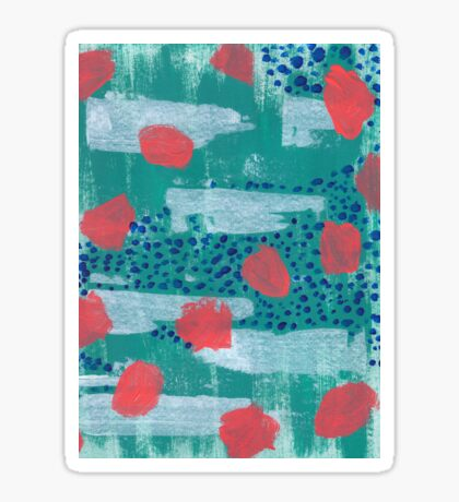 abstract coral Sticker