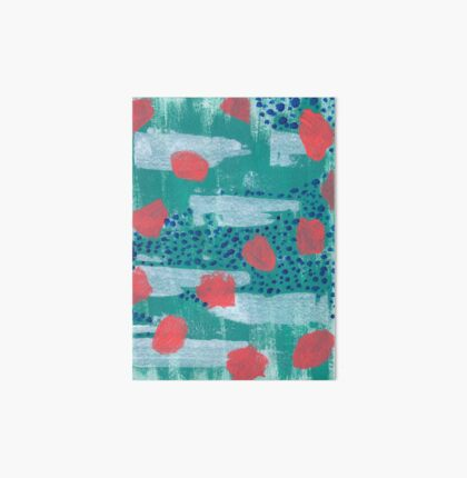 abstract coral Art Board