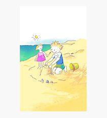 LET´S GO TO THE BEACH, KIDS! · ¡VAMOS A LA PLAYA, NIÑOS!  Lámina fotográfica