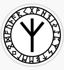 Algiz Rune - Connection with Asgard / Protection Sticker