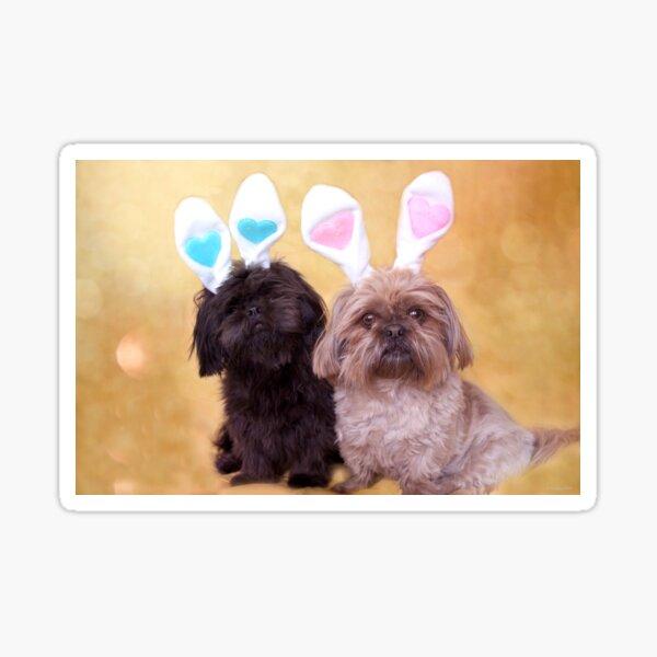 Easter Doggies  Sticker