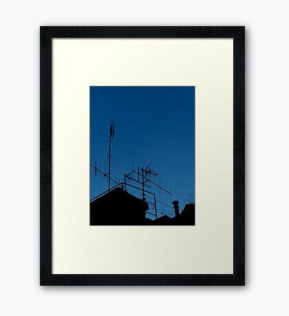 Antennas invasion Framed Print