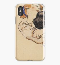 Egon Schiele - Woman With Blue Stockings 1912 iPhone Case/Skin