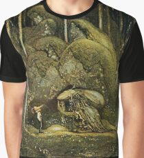 John Bauer's Scandinavian Fairies, Gnomes and Trolls Graphic T-Shirt