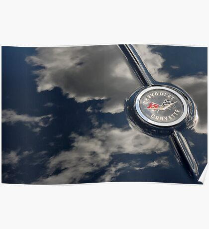 Cheverolet Corvette Badge Poster