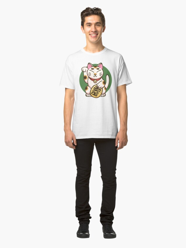 Alternate view of Lucky Kitty Classic T-Shirt