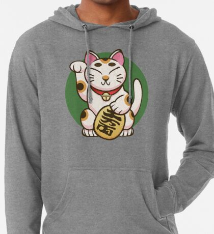 Lucky Kitty Lightweight Hoodie