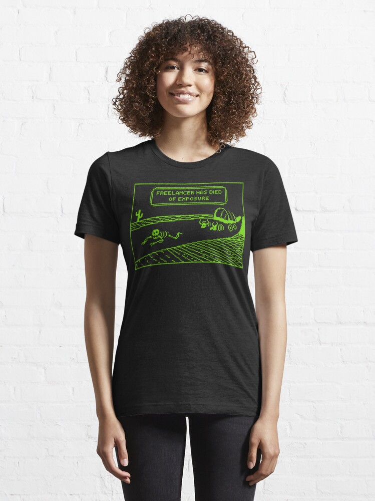 Alternate view of Your Freelancer Has Died of Exposure Essential T-Shirt