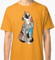 Cat in Lotus Tattoo Classic T-Shirt