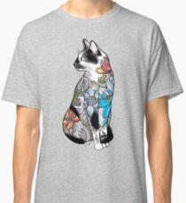 Katze in Lotus Tattoo Classic T-Shirt