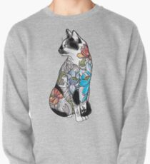 Cat in Lotus Tattoo Pullover