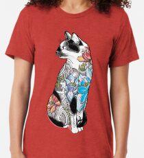 Camiseta de tejido mixto Gato en Lotus Tattoo