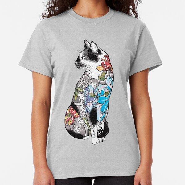 Cat Silhouette Love Long Sleeve T-Shirt Animal Lover Gift For Cat Lovers