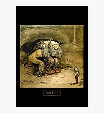 "John Bauer's Art ""The Boy Who Would Not Be Scared"" Photographic Print"