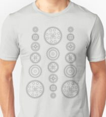 Cog Gear Wheels Pattern T-Shirt