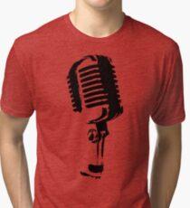 Vintage Microphone Tri-blend T-Shirt