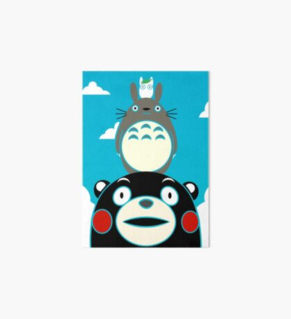 Kumamon, Totoro and small Totoro Art Board Print