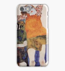 Egon Schiele - Two Seated Girls 1911 iPhone Case/Skin