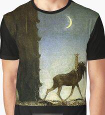 """John Bauer's Fairytale Art """"Leap The Elk"""" Graphic T-Shirt"""