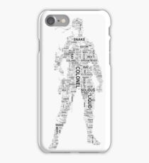 Metal Gear Solid - Solid Snake - Typography iPhone Case/Skin