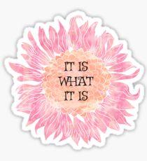 It Is What It Is - Sunflower  Sticker