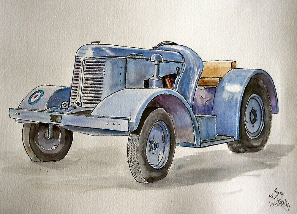 Davey Brown Tractor by Woodie
