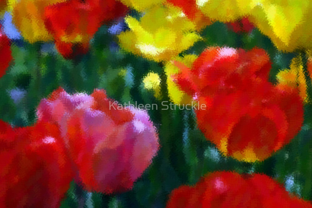 Waterly Tulips by Kathleen Struckle