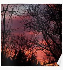 Spring Eve Sunset  Poster