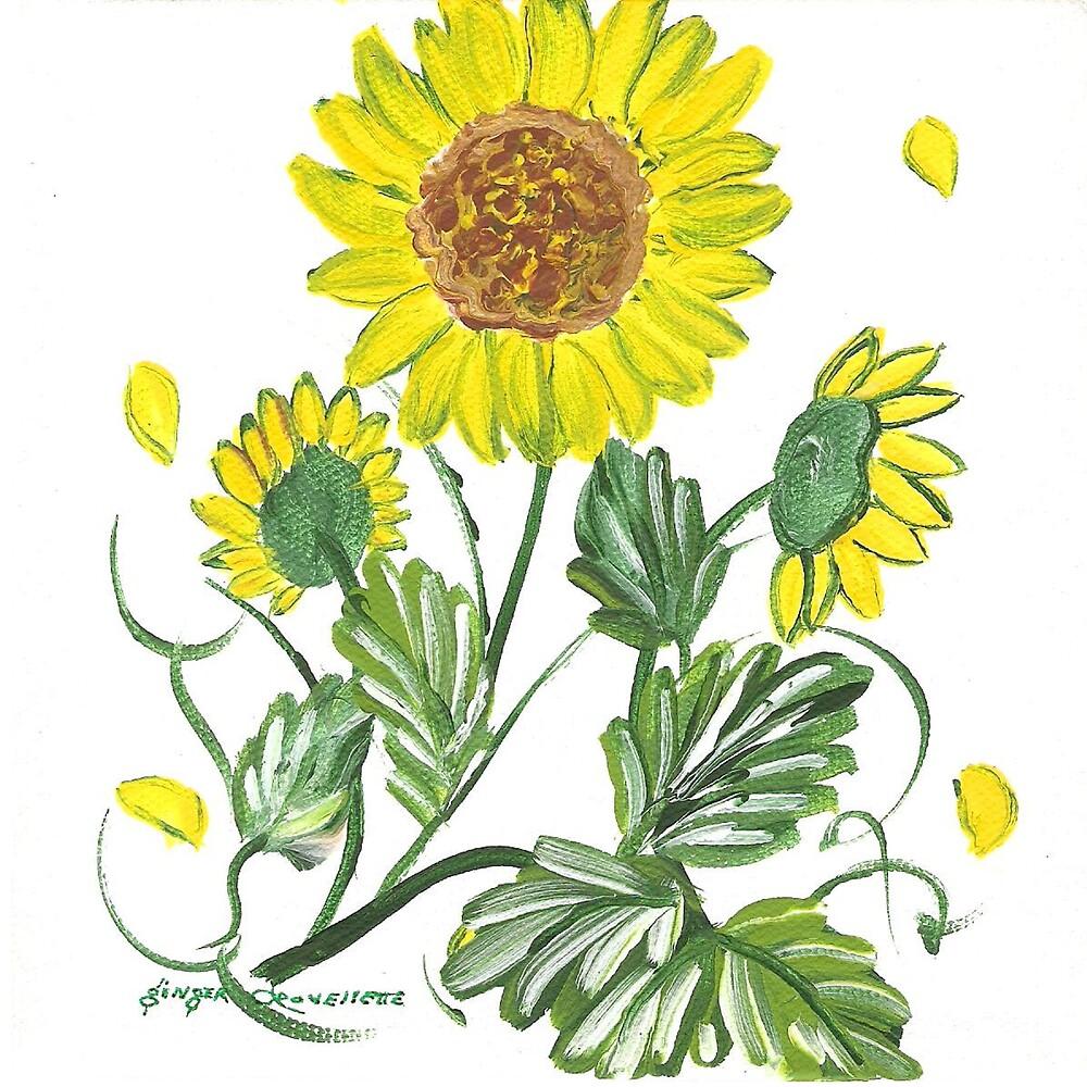 Rosie's Sunflowers by Ginger Lovellette