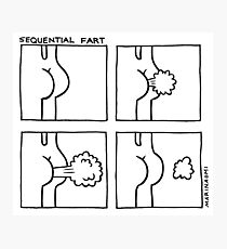 Sequential Fart comic (black and white) Photographic Print
