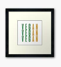 VEGAN Framed Print
