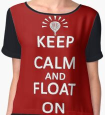 Keep Calm and Float On Women's Chiffon Top
