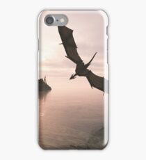Dragon Flying Low Over the Sea at Evening iPhone Case/Skin