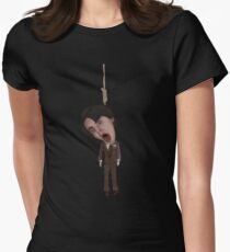 Harold And Maude Inspired Bud Cort Hanging Illustration Womens Fitted T-Shirt