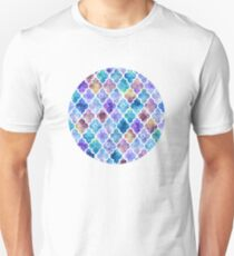Colorful Watercolor Moroccan Pattern Unisex T-Shirt