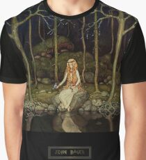 """John Bauer's Fairytale Art """"The Princess In The Forest"""" Graphic T-Shirt"""