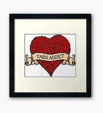 Yarn addict tattoo Framed Print