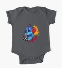 Flowery Skull Kids Clothes