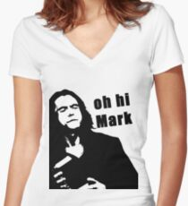 The Room Tommy Wiseau quote Women's Fitted V-Neck T-Shirt