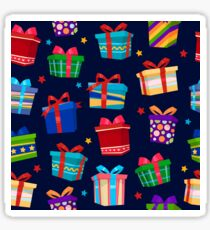 Colorful Gift Boxes Seamless Pattern Sticker