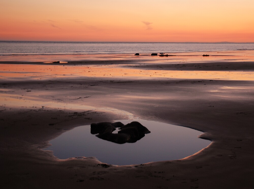 Sunset pool - Nash Point, Wales by Biscuitboss