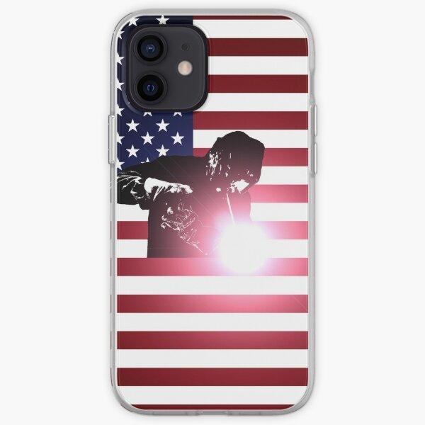 Welding: Welder & American Flag iPhone Soft Case