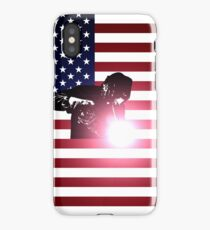 Welding: Welder & American Flag iPhone Case/Skin