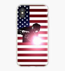 Welding: Welder & American Flag iPhone Case