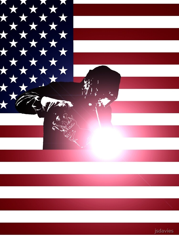 Schweißen: Schweißer & amerikanische Flagge von MilitaryCandA