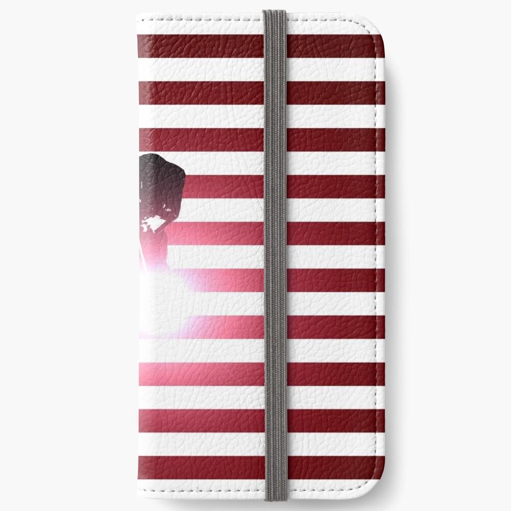Schweißen: Schweißer & amerikanische Flagge iPhone Flip-Case