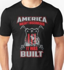 5eb57d2a Welders - America Was Built - Proud American Welder Graphic Gift Apparel  Unisex T-Shirt