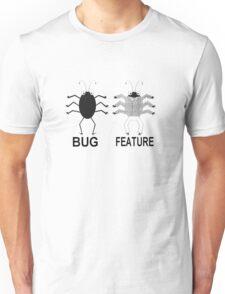 Developer/Tester - Bug VS Feature Unisex T-Shirt